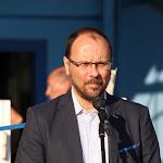 Štefan Gregor, Ipolyság polgármestere köszönti a versenyzőket