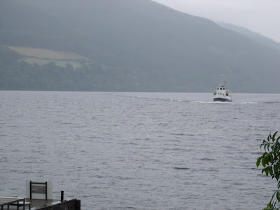 The ferry for our ferry ride on Loch Ness. It was cold and windy by now