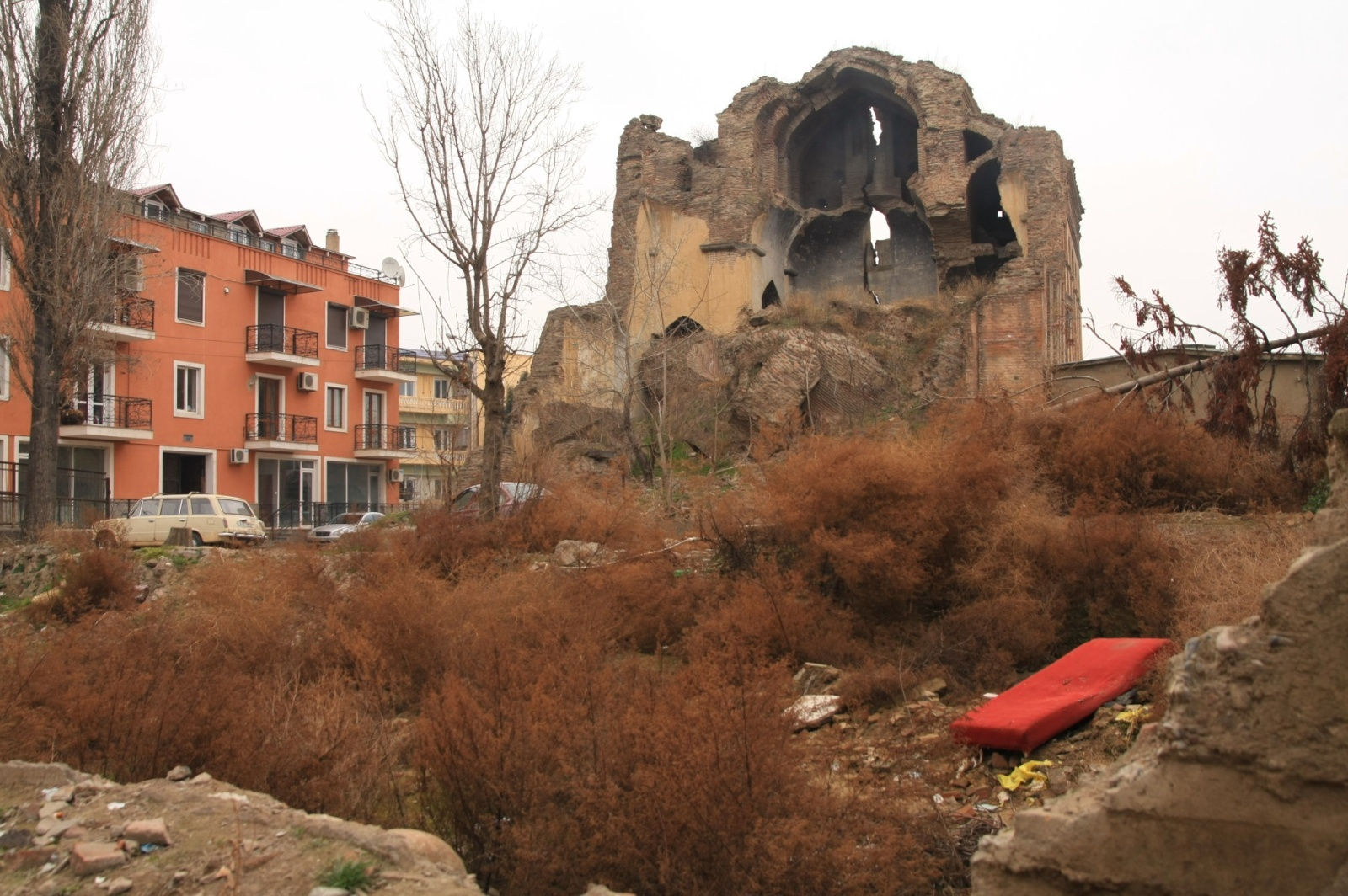 Remains of a collapsed church