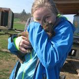 Na kole k nám dorazila Lůca a hned si taky pochovala králíčka.