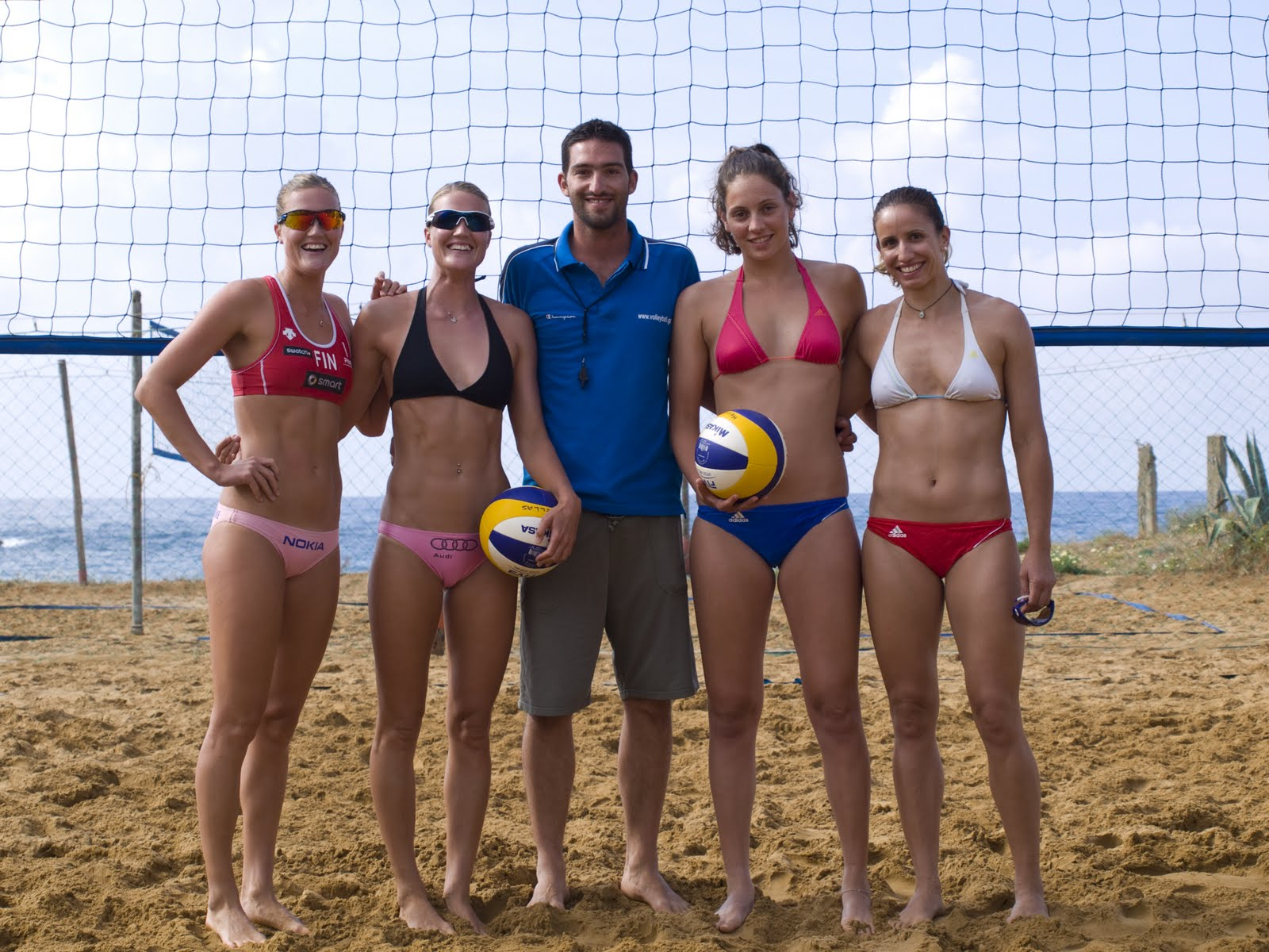 National Teams training at Chania Beach Volleyball Club, 2013