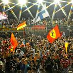 Formula 1 fans after podium ceremony