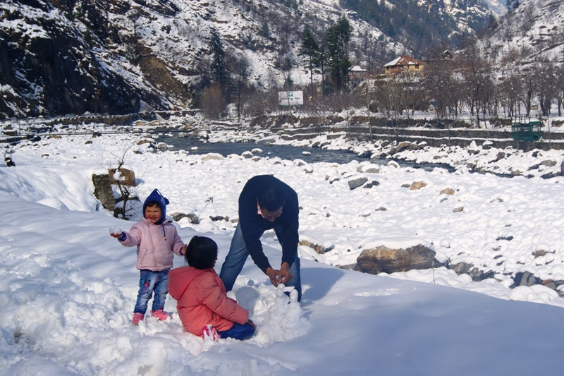 Snowfall in manali