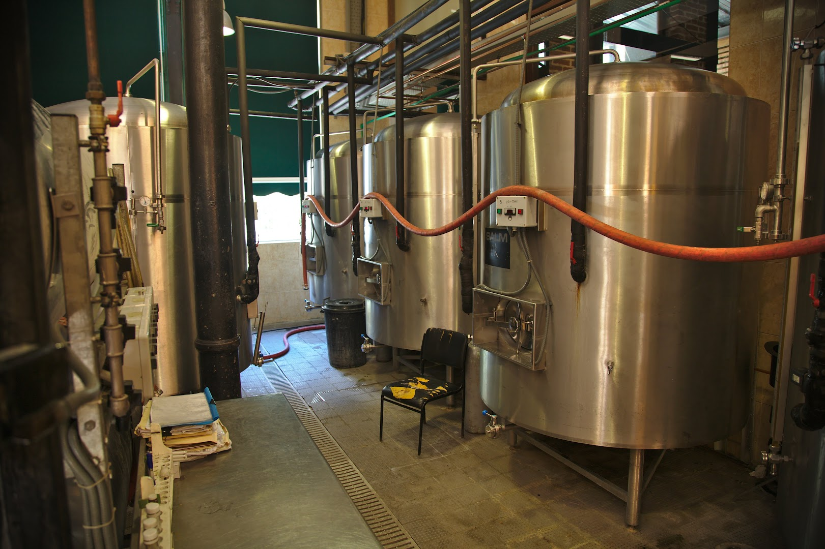 Local brewery tanks