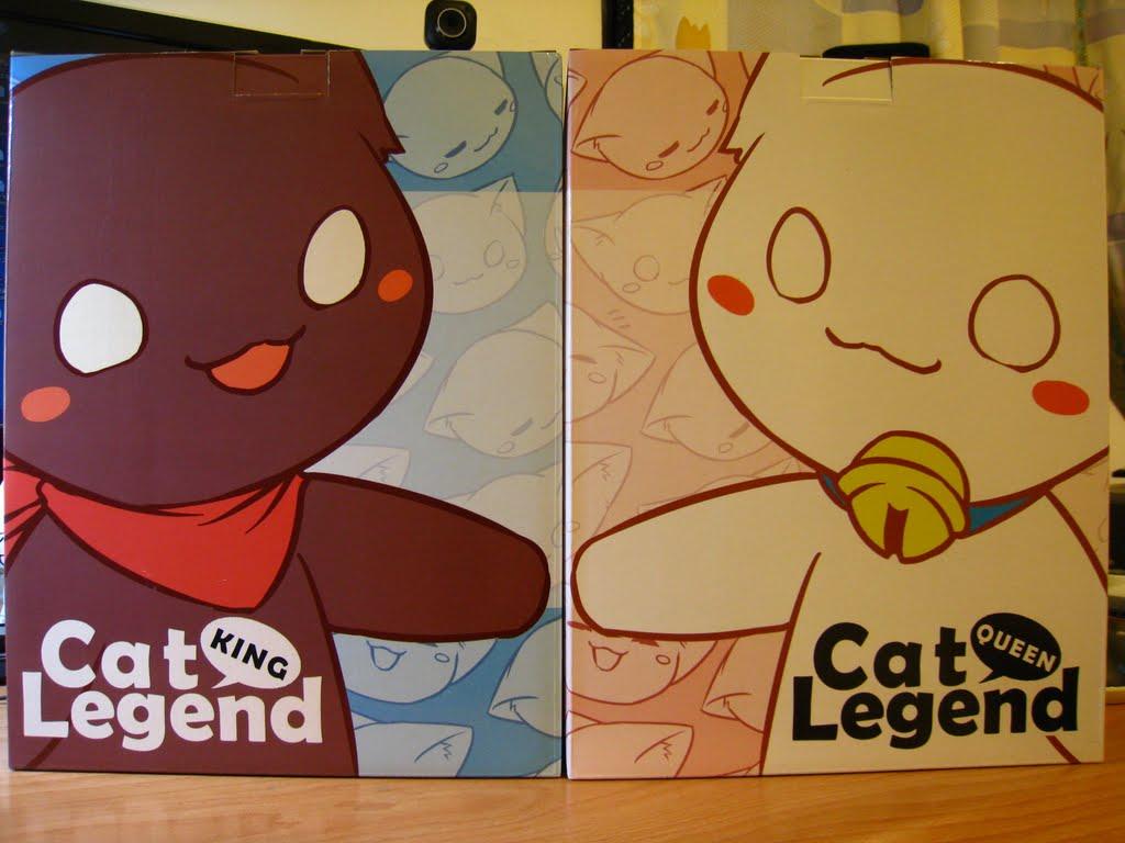 兩個箱子封面 應該有打算作連動吧 只是背景的喵頭 似乎打亂了感覺 盒子背後有材質跟價錢 但我買的價錢比定價低 開箱了