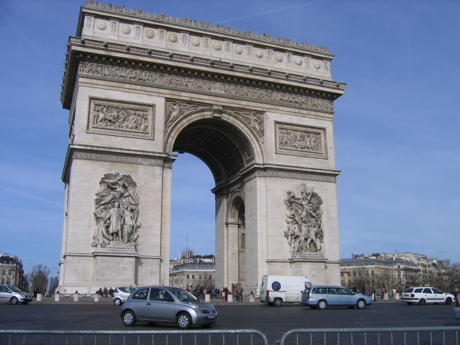 Arc de Triomphe - http://en.wikipedia.org/wiki/Arc_de_Triomphe