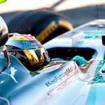 Lewis Hamilton gets ready to race