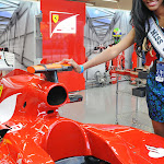Miss Universe at the Ferrari pit