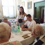 A Szabolcs Fejedelem Lovasíjászai Egyesület tagjai is kipróbálták acsigatészta sodrását