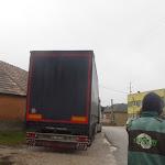 Megérkezett Lekenyébe az adományt szállító kamion