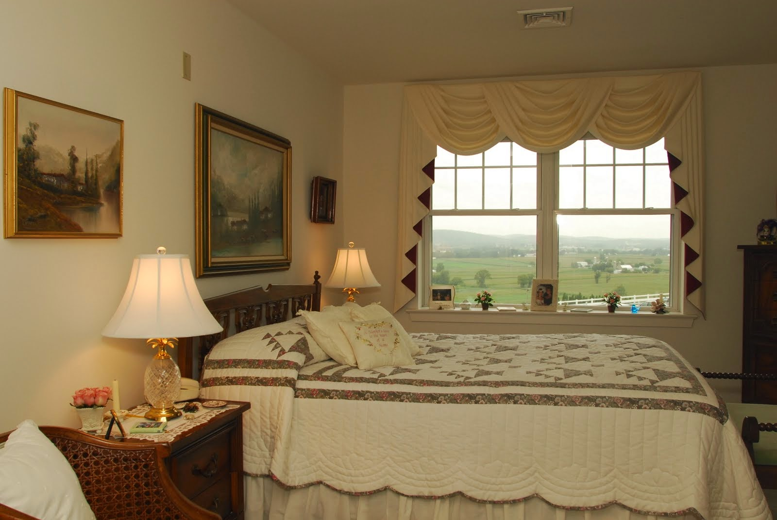 Bedroom in one of the Crest View apartments