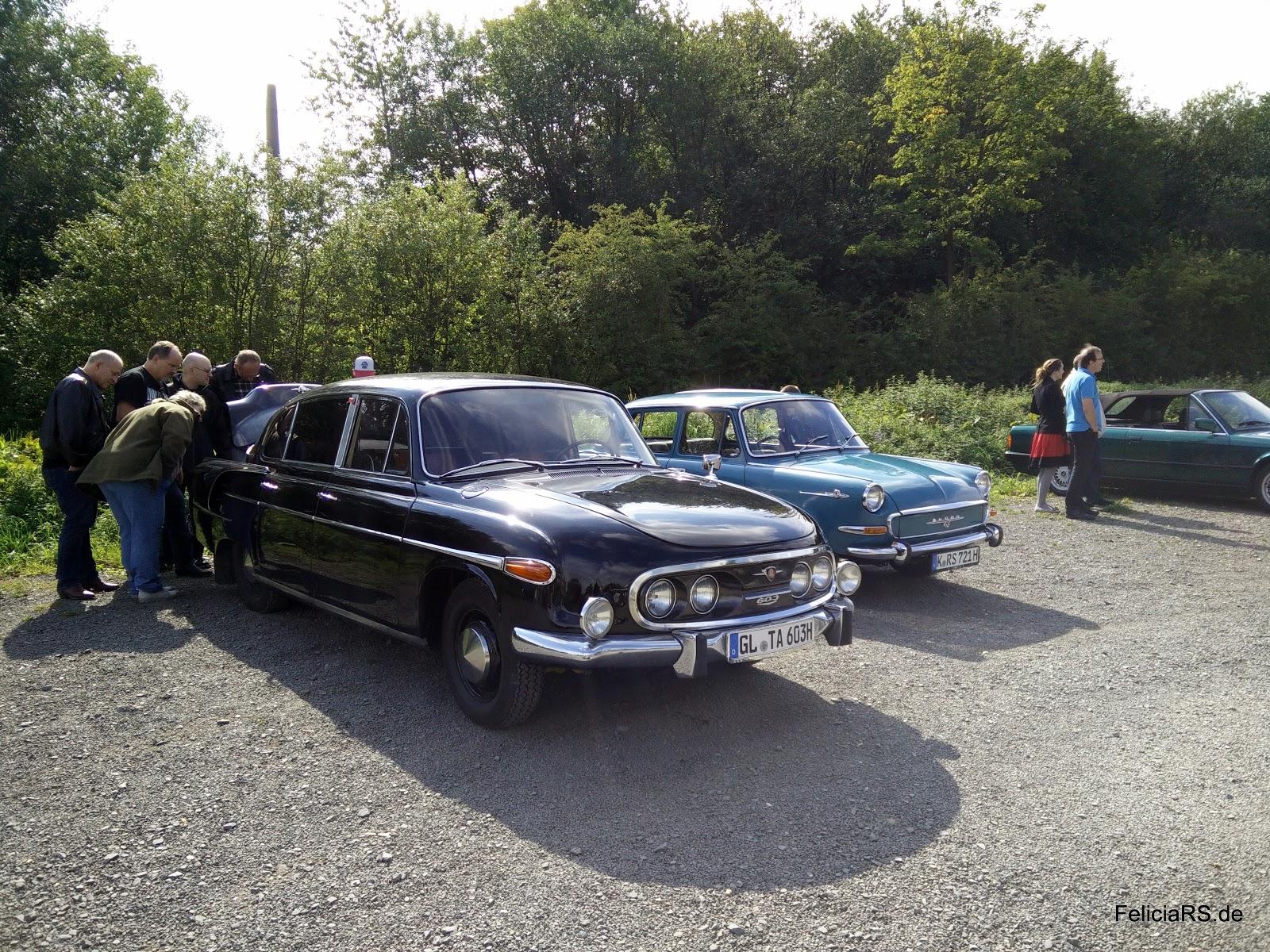 Tatra 603 1963 und Skoda 1000MB 1967 auf einem Bild.