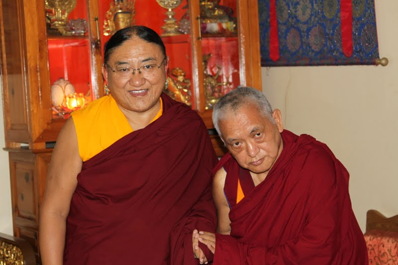 His Holiness the Sakya Trizin and Lama Zopa Rinpoche