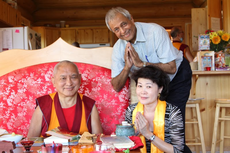 Rinpoche with MK Sen and Ming