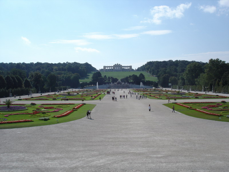 The fine gardens of the Palace