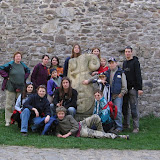 Před kadaňskými městskými hradbami