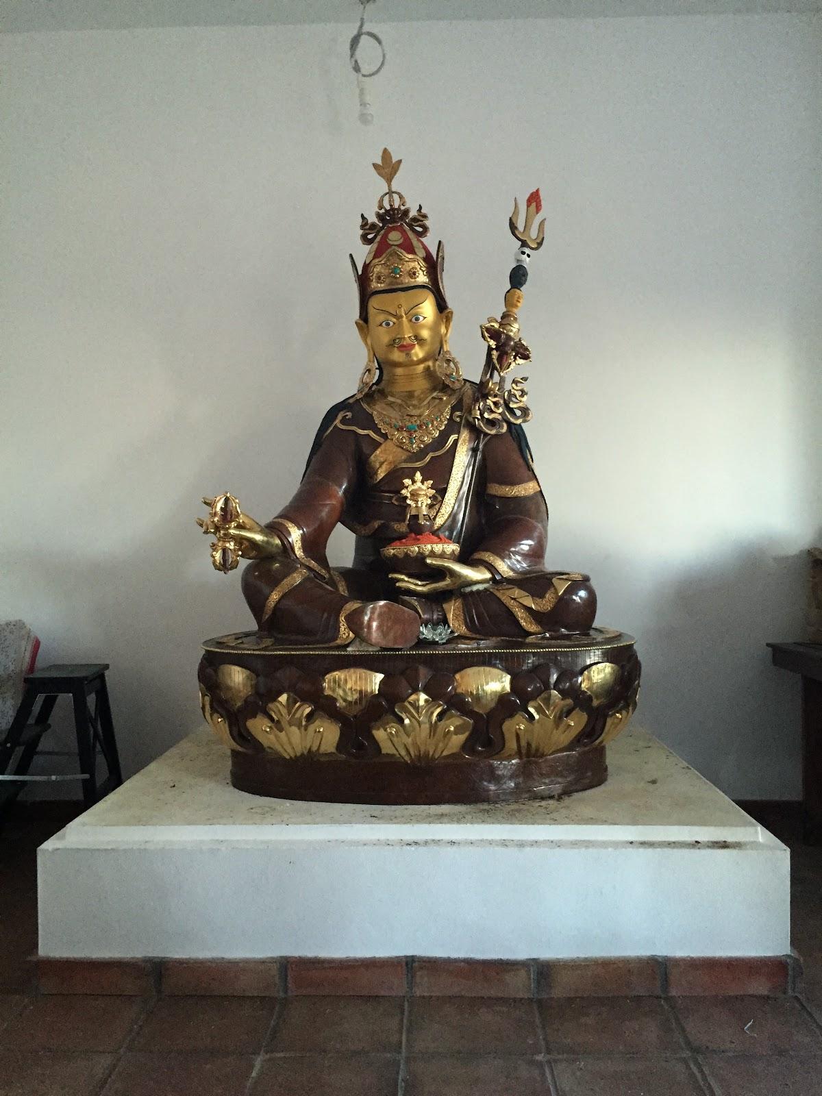 6.5 ft Padmasambhava statue at Osel Ling, Spain.