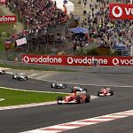 Au Rouge after start 2002 Belgium F1 GP