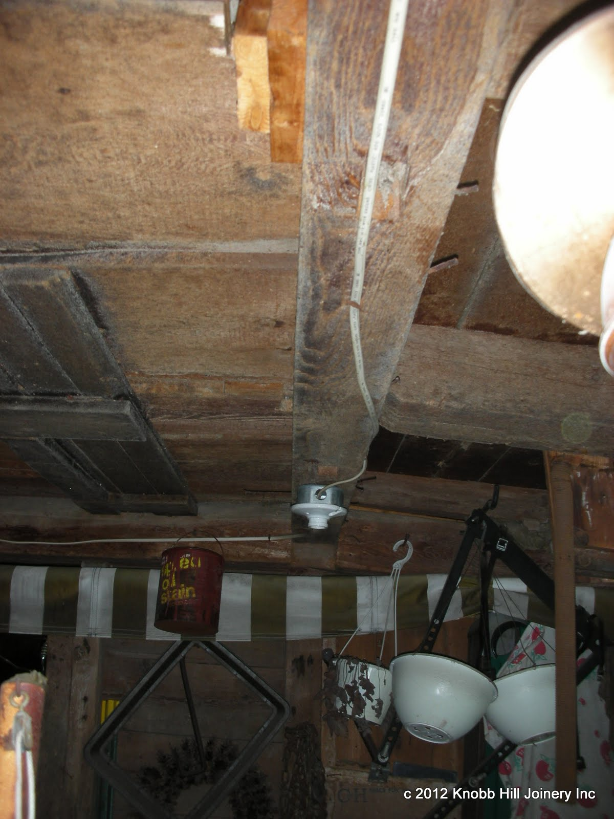 The middle tie beam of the barn had fractured mid-span.