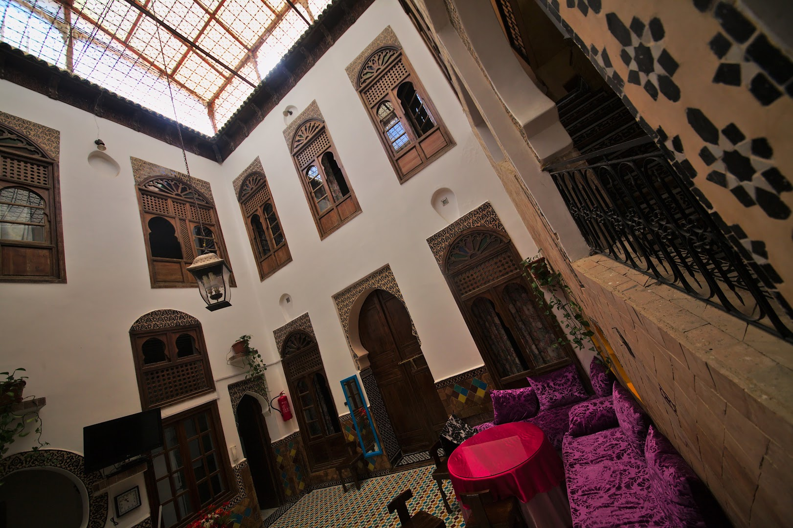 Inner court of a Fes riad
