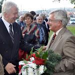 Schulek Ágoston és Duray Miklós, a háttérben Pogány Erzsébet és Rostás-Farkas György költő