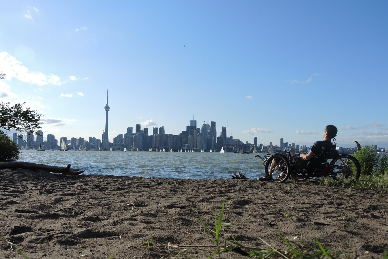Au calme sur l'île de Toronto
