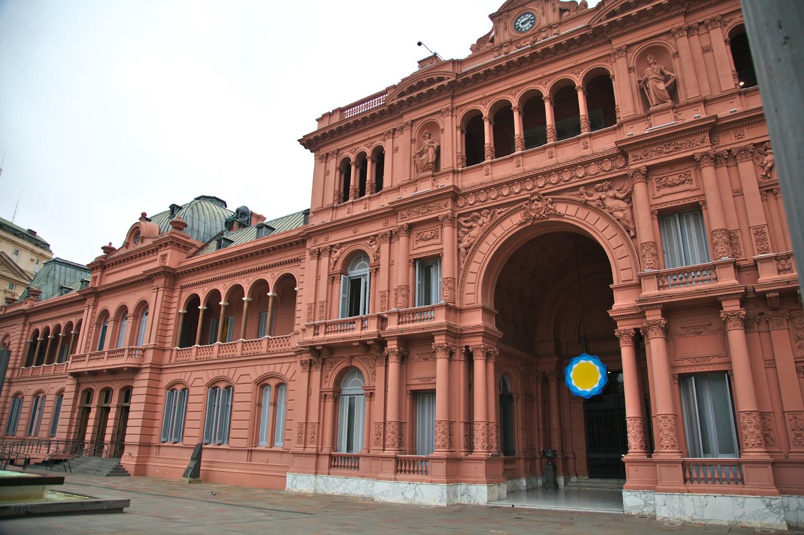 La Casa Rosada, where Evita lived