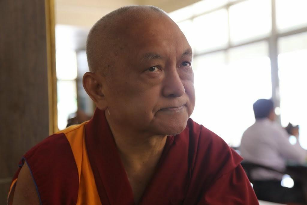 Lama Zopa Rinpoche in Bangalore, India, 2014. Photo by Thubten Kunsang.