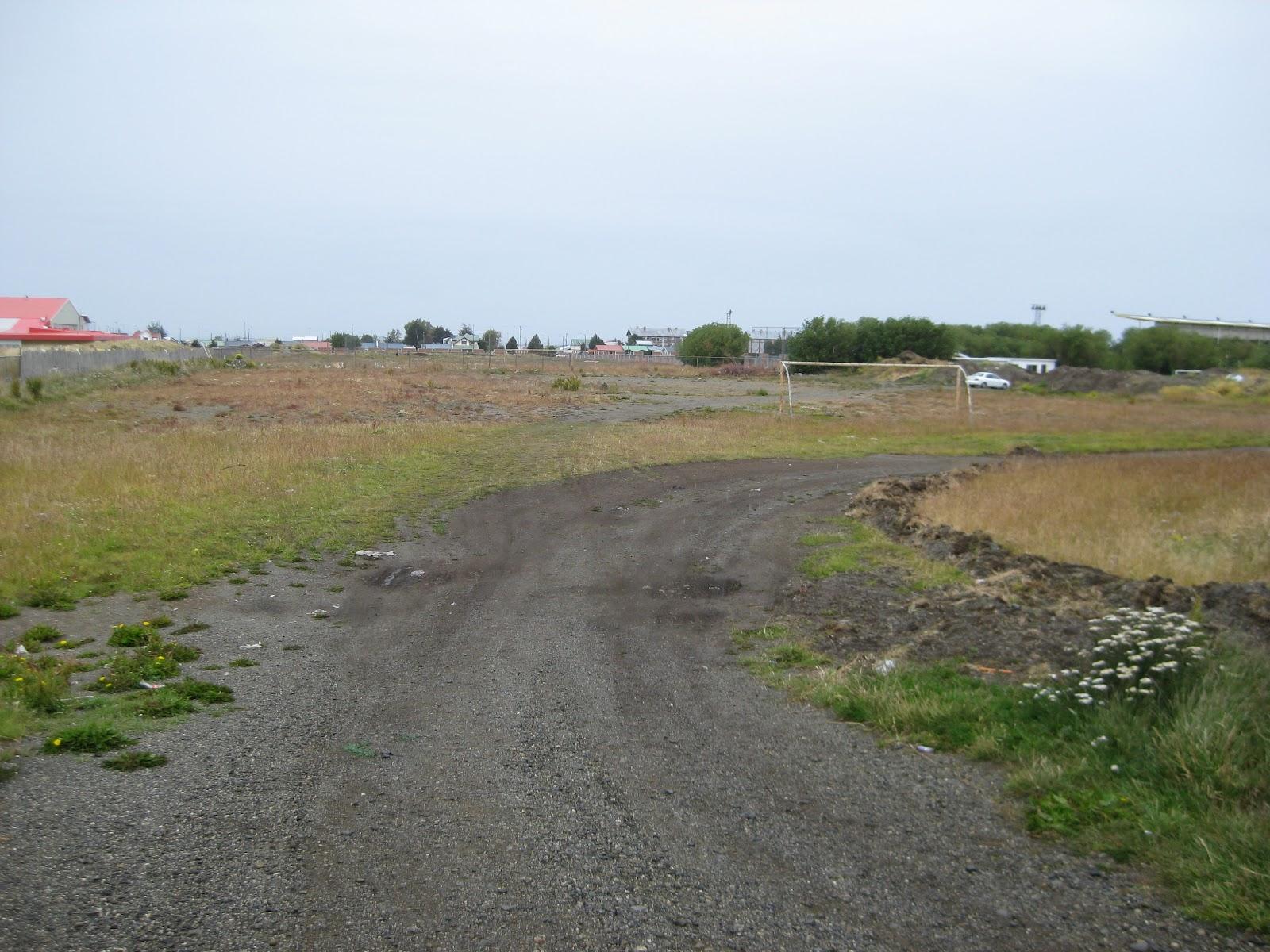 Derelict soccer field