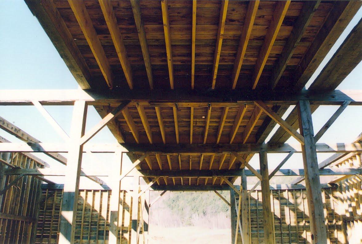 Floor joist sit atop of the tie beam.