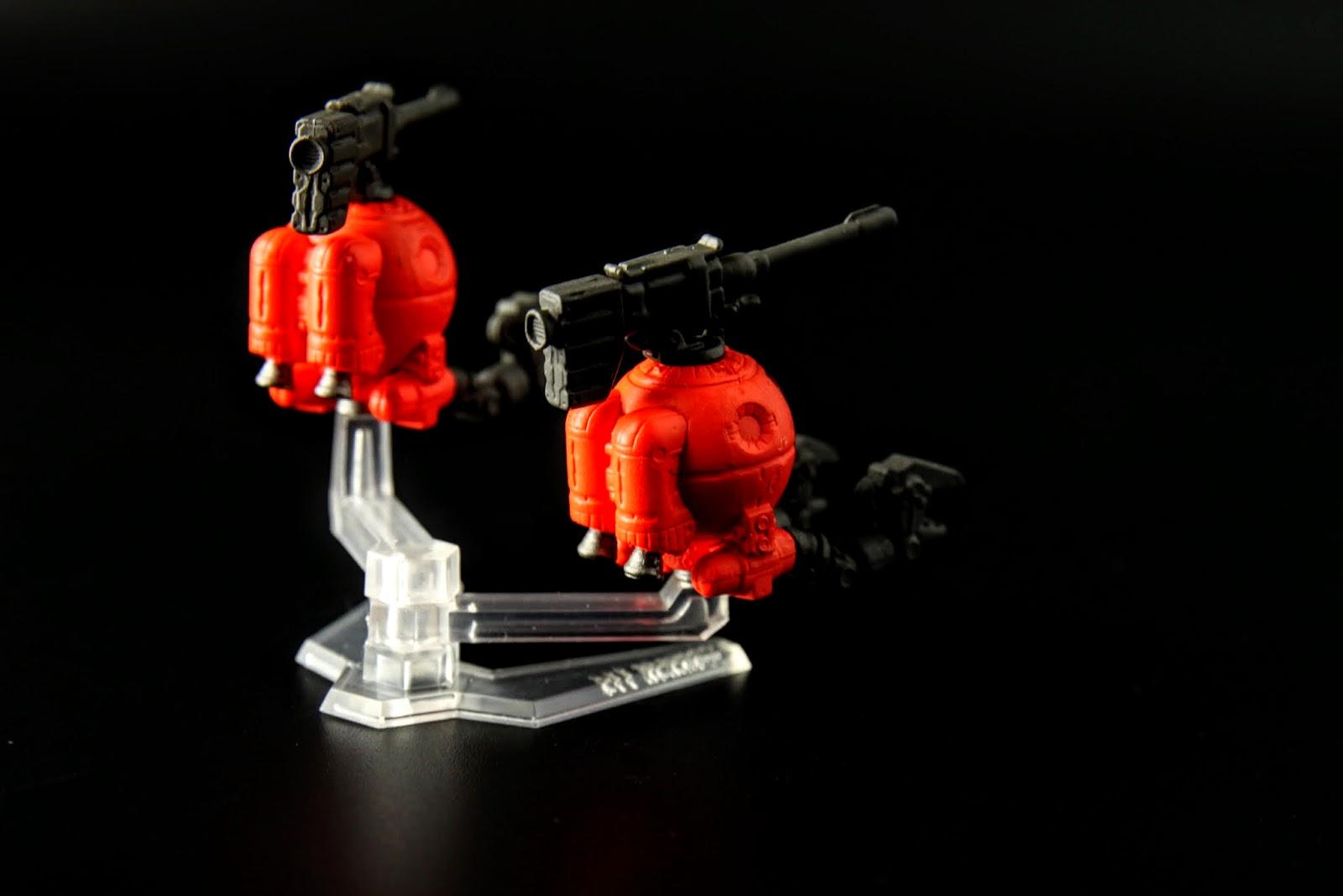 設定上橘色鋼球是工程用型,而且其實外觀也不是這樣