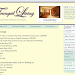 Tranquil Living MN website redesign - Nursing Services page