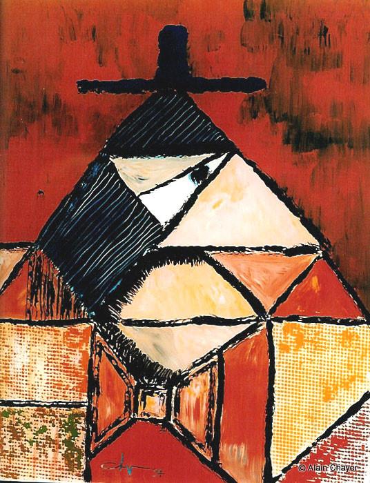 060 - Le frère de Gabriel - 1994 16,5 x 60,5 - Acrylique sur résine