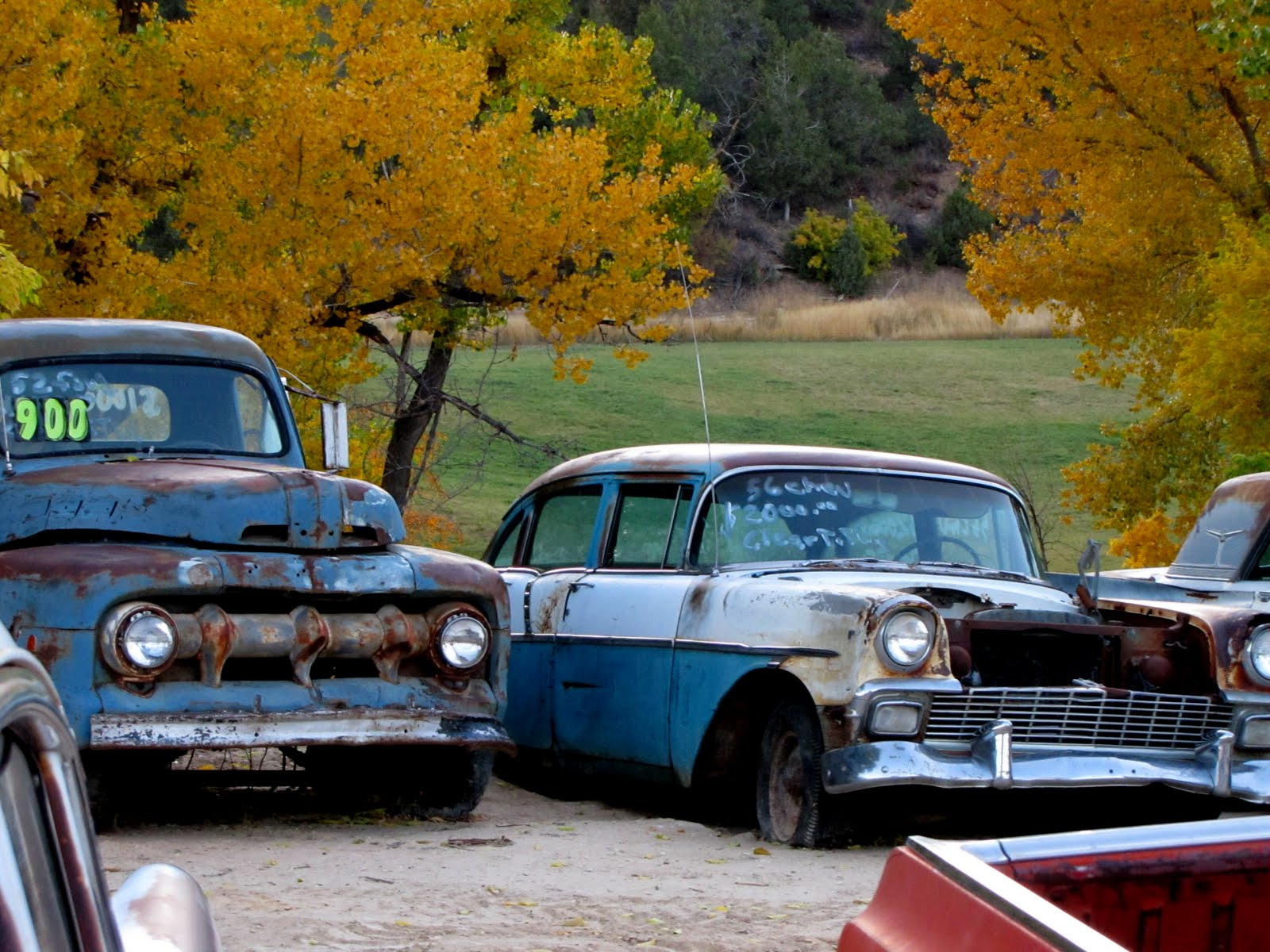 1952 Ford F10, 1956 Chevrolet Bel Air