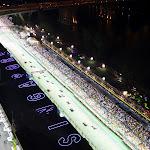 Start of 2009 Singapore F1 GP