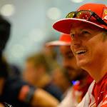 Kimi Raikkonen having fun at Ferrari