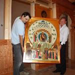 Установка нового иконостаса в Верхнем Храме. Placing of new iconostasis in the Upper Church.