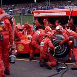 Michael Schumacher pitstop Ferrari F2001