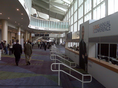 The foyer in the convention centre. It was over 400m end to end
