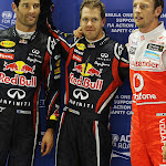 Top 3 qualifiers: 1. Vettel 2. Webber 3. Button