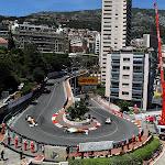 Monaco haripin with both Force India's