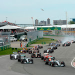 Start of the 2015 Canadian F1 GP