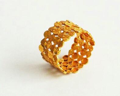 Pattern Gold Ring