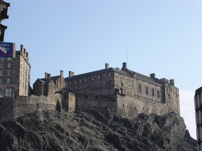 Edinburgh Castle as we walk up the hill for our tour