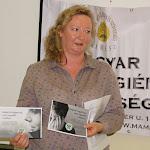 Hideghéthy Andrea, a SZAKC munkatársa a  Felvidéki Lelki Elsősegély Telefonszolgálatot mutatta be