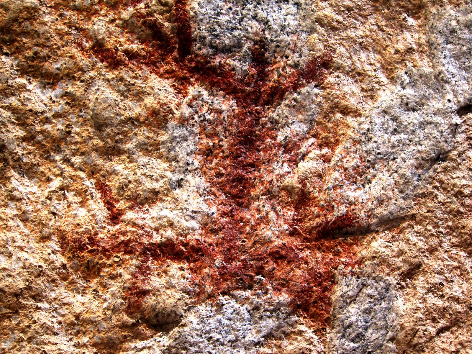 We were excited to find an antromorph pictograph near the rear of the cave,