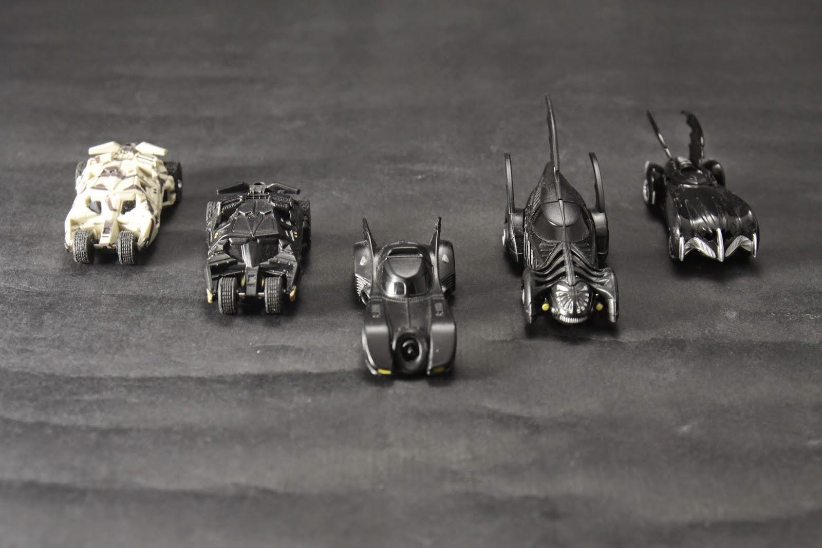五種電影版的Bat Mobile 各位喜歡哪種呢?
