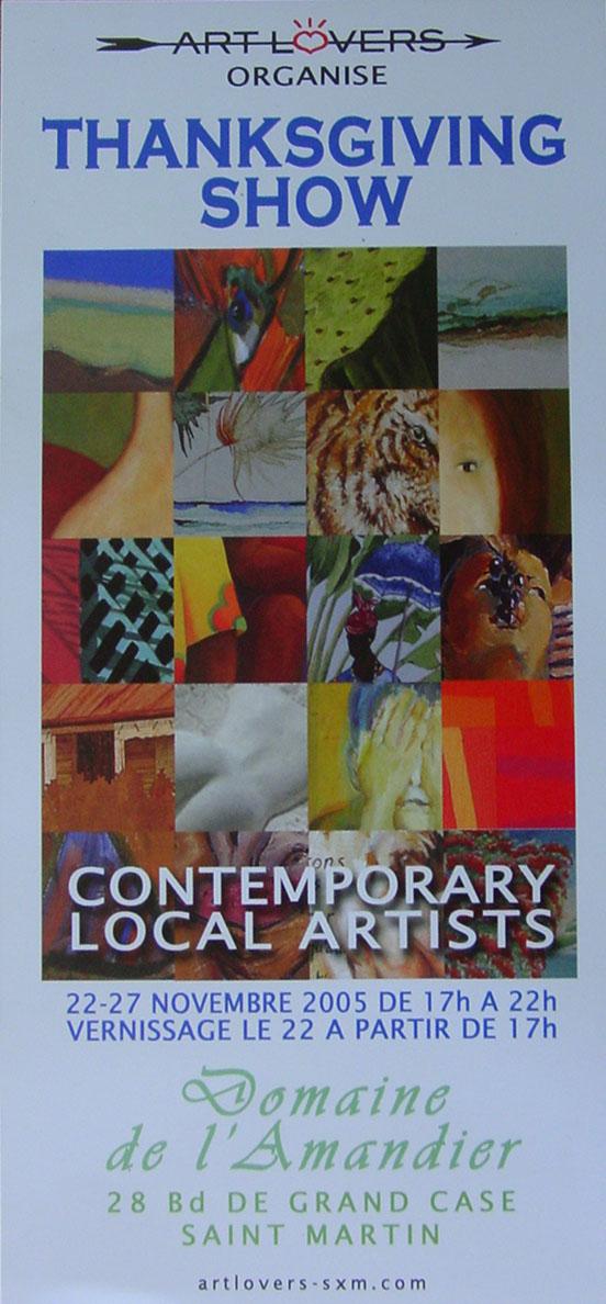 EXPOSITION AVEC ART LOVERS  - GRAND CASE SAINT MARTIN - NOVEMBRE 2005