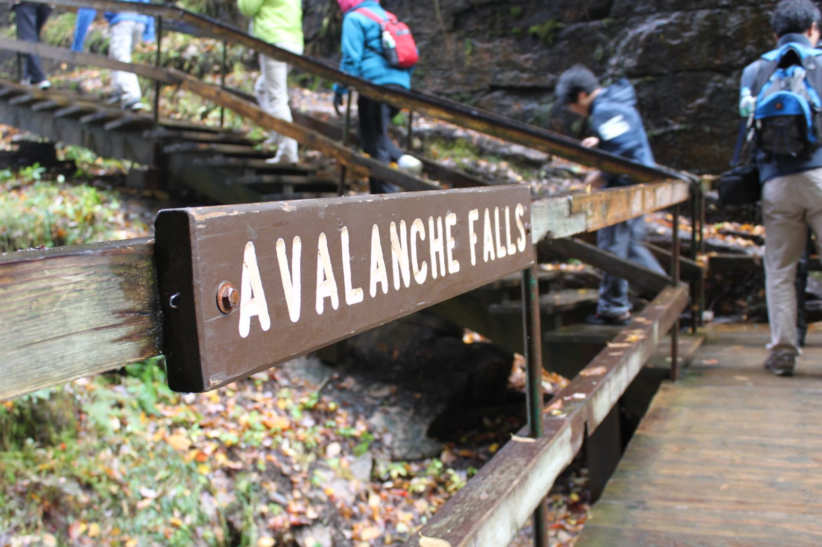 Avalanche Falls - The Flume Gorge - White Mountains, New Hampshire