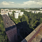 Climbed to the roof of a 16-floor building, too bad elevators are out of order. See the reactor?